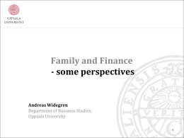 10. Andreas Widegren – Family and Finance