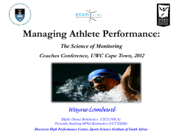 Managing Athlete Performance