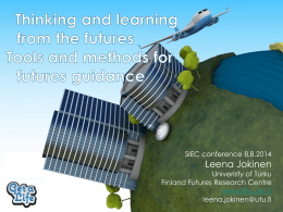 Thinking and learning from the futures