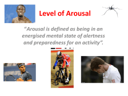 Level of Arousal higher powerpoint (3)