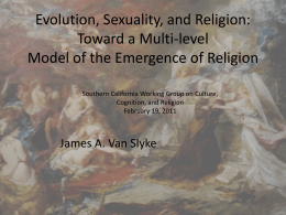 Evol Sex and Religion
