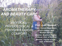 AROMATHERAPY AND BEAUTY-CARE - MSME
