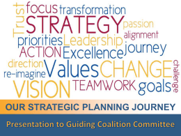 DofM Strategic Planning Journey Plan