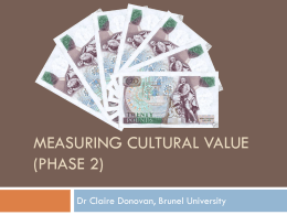 Measuring Cultural Value (phase 2)