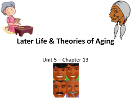 Adult Life & Theories of Aging - HHS4M-ConEd-2012