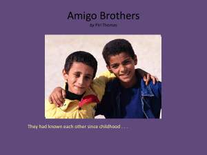 Amigo Brothers questions