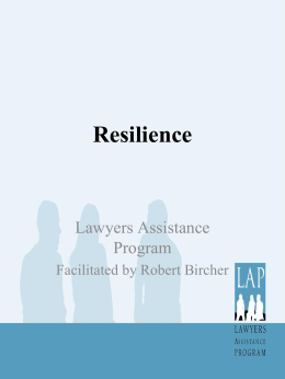 Resilience - Lawyers Assistance Program of British Columbia
