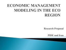 ECONOMIC MANAGEMENT MODELING IN THE ECO REGION