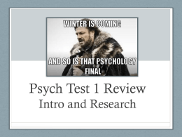 Psych Test 3 Review