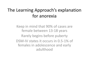 learning explanations of anorexia
