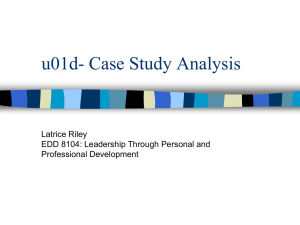 u01d- Case Study Analysis