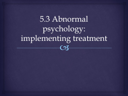 5.3 implementing treatment
