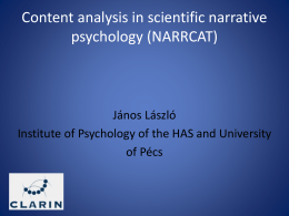 Content analysis in scientific narrative psychology