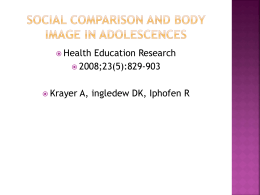 Social comparison and body image in adolescences