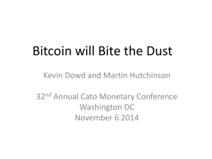 Bitcoin will bite the dust
