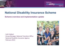 National Disability Insurance Agency, Cath Halbert