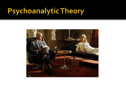 Jungian Psychology - Ms. Bistolas English