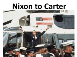 Nixon to Carter notes