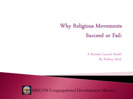 Why Religious Movements Succeed or Fail