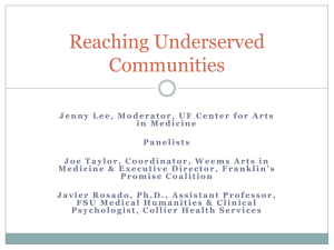 Reaching Underserved Communities
