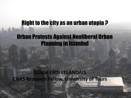 Right to the city as an urban utopia