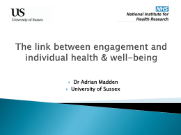 The link between engagement and individual