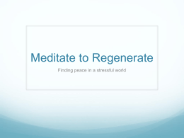Meditate to Regenerate - Sahaja Resources Library