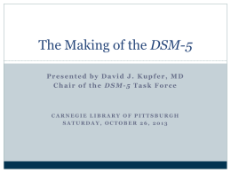 DSM-5 - Incoming Student Resources