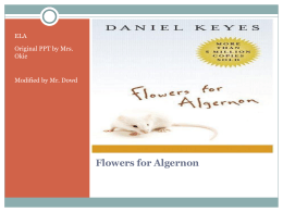 flowers for algernon - notes
