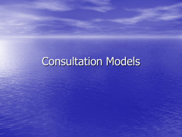 Consultation Models - Swindon GP Education