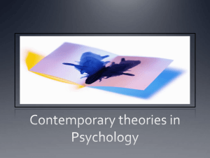 Contemporary Perspectives in Psychology - ITL