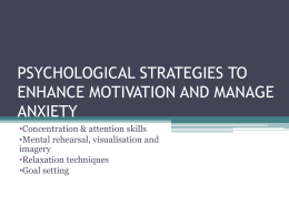 psychological strategies to enhance motivation and