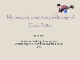 My research paper about Harry Potter