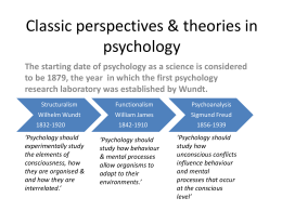 Classic perspectives & theories in psychology - ITL