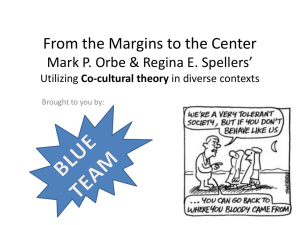 From the Margins to the Center (Utilizing Co