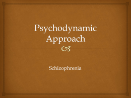 Psychodynamic Explanation