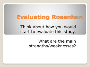 Rosenhan Evaluation Slides
