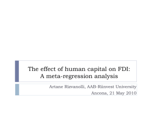 The effect of human capital on FDI: A meta-regression