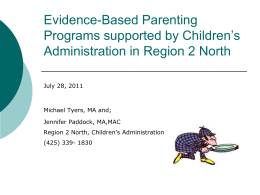 Evidence-Based Parenting Programs supported by Children`s