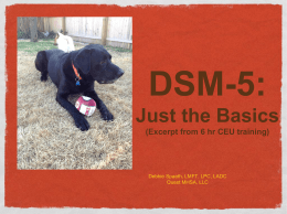 DSM-5 Condensed Training