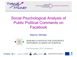 Social Psychological Analysis of Public Political Comments