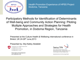 presentation - Culture Health & Wellbeing International