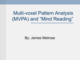 Chapter 8 and Multi-voxel Pattern Analysis (MVPA)