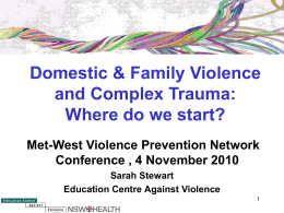 Definition of DV (NSW Health)