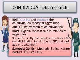 DEINDIVIDUATION..research.