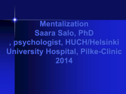 Mentalization based interventions
