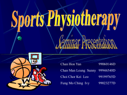 Sports Physiotherapy - Department of Rehabilitation Sciences