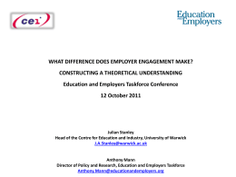 presentation - Education and Employers Taskforce