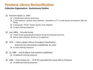 Firestone Library Reclassification