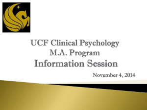 Info Session Clinical Psych MA 2014
